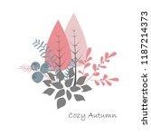 autumn bouquet vector. forest...   Shutterstock .eps vector #1187214373