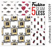 great collection of fashion... | Shutterstock .eps vector #1187225059