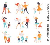 parents dancing with their... | Shutterstock .eps vector #1187227003