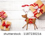 christmas decoration and gift... | Shutterstock . vector #1187230216