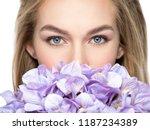 beautiful young blonde woman... | Shutterstock . vector #1187234389