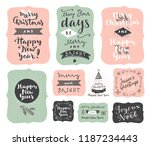 set of merry christmas and... | Shutterstock .eps vector #1187234443