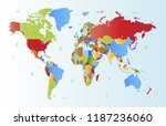 world map vector | Shutterstock .eps vector #1187236060
