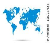 color world map vector | Shutterstock .eps vector #1187237656