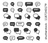 speech bubble icons. speak... | Shutterstock .eps vector #1187240179