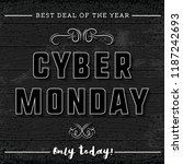 Cyber Monday Sale Banner On...