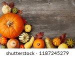 pumpkins from above | Shutterstock . vector #1187245279