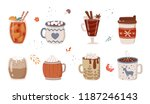 vector collection of hot drinks.... | Shutterstock .eps vector #1187246143