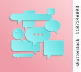 chat icons in trendy style... | Shutterstock .eps vector #1187246893