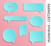 chat icons in trendy style... | Shutterstock .eps vector #1187246896