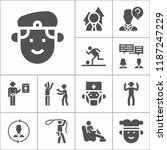 set of 13 people filled icons... | Shutterstock .eps vector #1187247229