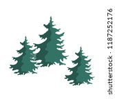 hand drawn christmas tree group ...   Shutterstock .eps vector #1187252176