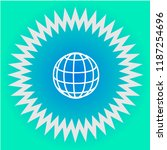 globe vector icon | Shutterstock .eps vector #1187254696
