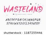 wasteland vector brush style... | Shutterstock .eps vector #1187255446