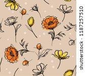 beautiful hand brush strokes... | Shutterstock .eps vector #1187257510