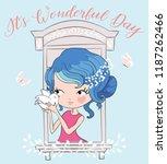 illustration of little cute...   Shutterstock .eps vector #1187262466