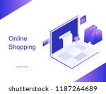 concept of online shop.... | Shutterstock .eps vector #1187264689