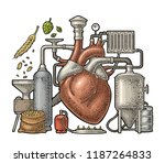 brewery process on factory with ... | Shutterstock .eps vector #1187264833