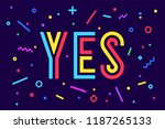banner yes. speech bubble ... | Shutterstock .eps vector #1187265133