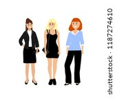 a diverse woman on a white... | Shutterstock . vector #1187274610