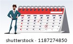 a handsome businessman is... | Shutterstock .eps vector #1187274850