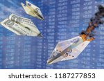 paper plane exchange rate... | Shutterstock . vector #1187277853