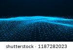 wave of particles. futuristic... | Shutterstock . vector #1187282023
