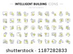 set of vector line icons and... | Shutterstock .eps vector #1187282833