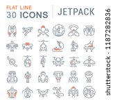 set of vector line icons of... | Shutterstock .eps vector #1187282836