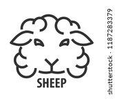 minimalist bold line icon of... | Shutterstock .eps vector #1187283379
