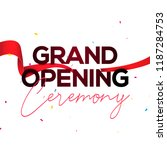 grand opening ceremony poster... | Shutterstock .eps vector #1187284753