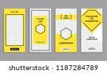 instagram story template design.... | Shutterstock .eps vector #1187284789