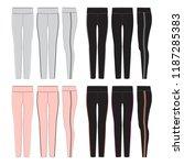 vector template for women's... | Shutterstock .eps vector #1187285383