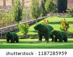 bears created from bushes at... | Shutterstock . vector #1187285959