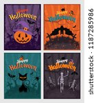 halloween invitation or... | Shutterstock .eps vector #1187285986