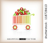 abstract vector shopping cart... | Shutterstock .eps vector #118728613