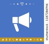 speaker  bullhorn icon | Shutterstock .eps vector #1187286946