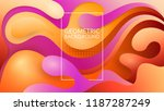 vector embossed layers of cut... | Shutterstock .eps vector #1187287249