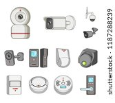 vector illustration of cctv and ... | Shutterstock .eps vector #1187288239