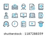 e learning related line icon... | Shutterstock .eps vector #1187288359