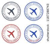 postmarks barcelona  spain.... | Shutterstock . vector #1187288743
