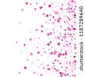 crimson hearts confetti frame... | Shutterstock .eps vector #1187289640
