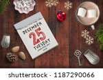 tear off calendar with 25th of... | Shutterstock . vector #1187290066