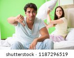 woman and man in the bedroom... | Shutterstock . vector #1187296519