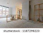 home renovation in room full of ... | Shutterstock . vector #1187298223