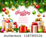christmas patry poster... | Shutterstock .eps vector #1187305126