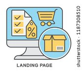icons landing page. advertising ... | Shutterstock .eps vector #1187308510