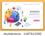business website template... | Shutterstock .eps vector #1187312200