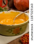 cooking of soup puree from...   Shutterstock . vector #1187325163