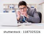 businessman leaking...   Shutterstock . vector #1187325226